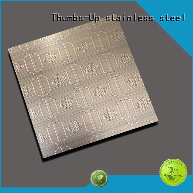 Thumbs-Up 316 color etching stainless steel pattern for ceiling