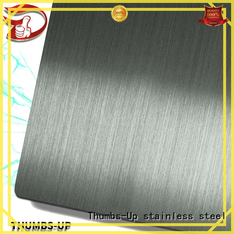 Thumbs-Up colorful stainless steel plate cost sandblastingchampagne for hotel