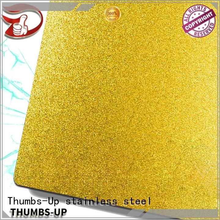 Thumbs-Up sandblastinggold 3mm steel plate manufacturer for cabinet