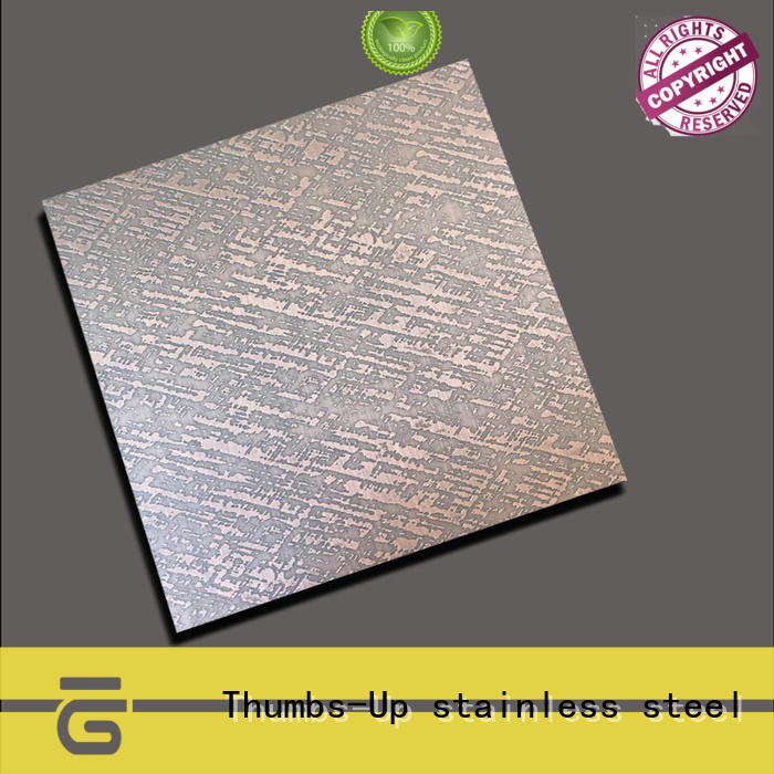 Thumbs-Up sheet stainless steel panels design for hotel